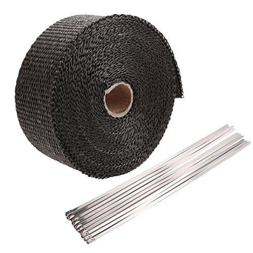 homedox bande thermique echappement 10m ruban isolant thermique c ramique 10m noir kick 39 n start. Black Bedroom Furniture Sets. Home Design Ideas