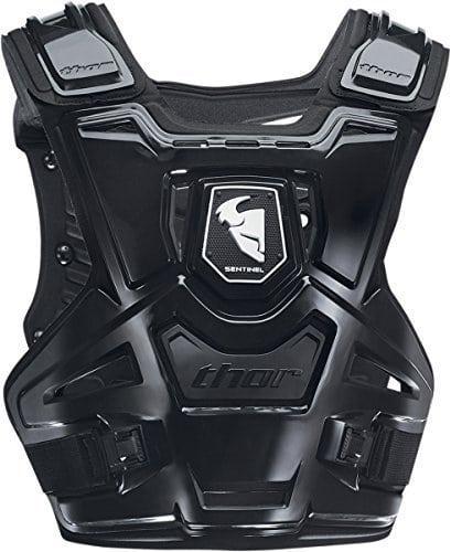 Thor Sentinel MX Plastron et protection dorsale Noir Pour hors-piste motocross quad