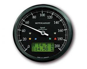 chronoclassic Speedo 0-200KM/H, cadran et anneau noir, affichage LCD vertes