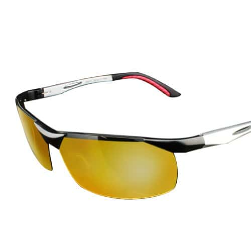 lunettes de vision nocturne duco pour conduite de nuit lunettes anti blouissement 2181 argent. Black Bedroom Furniture Sets. Home Design Ideas