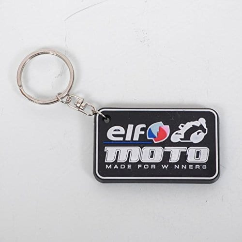 Porte clé Elf moto Made for Winners noir et blanc Neuf