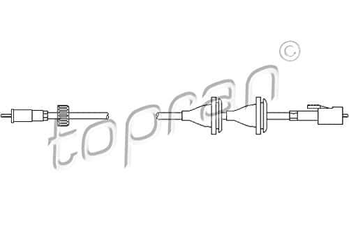 Topran Câble de tachymètre, 102971