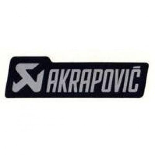 Akrapovic logo sticker 135 x 40 mm black/grey – p-hst4al… – Akrapovic 18601006