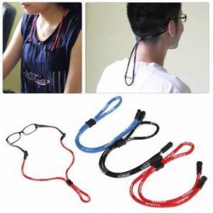 Des lunettes de soleil réglables sans glissement bracelet en caoutchouc