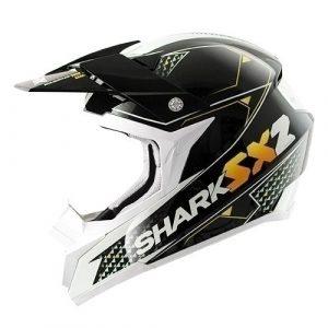 Shark Casque de Moto, Noir/Orange/Blanc, 53-54