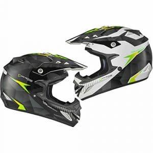 Shox MX-1 Shadow Motocross Helmet XL Black White Green
