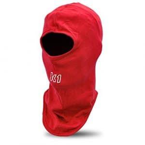 K1 Race Gear Cotton Full Face Head Sock/Balaclava (Red) by K1 Race Gear