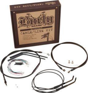 'Kit câbles étendus Burly pour APE Hanger de 12, Harley Davidson XL Sportster 07–13