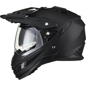 THH TX-27 Plain Dual Sport Motocross Helmet M Matt Black