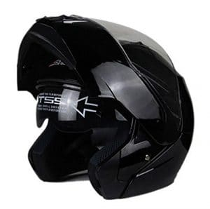 Woljay Casque Modulable Pare Soleil Interne Moto Scooter (XXL, Noir)