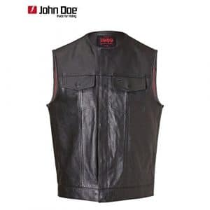 John doe mC-oUTLAW club veste en cuir noir 4XL