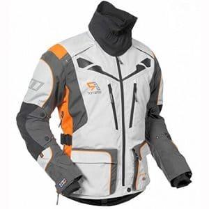 2022 Rukka Orivesi moto Jacket Blanc/Orange