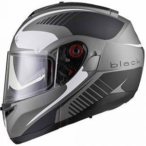 Black Optimus SV Tour Flip Front Motorcycle Helmet XL Matt Black White
