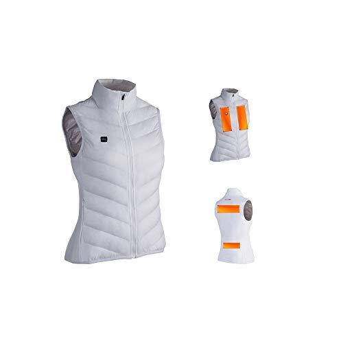 Motodak Gilet Chauffant capit warmme Blanc Taille XS Femme