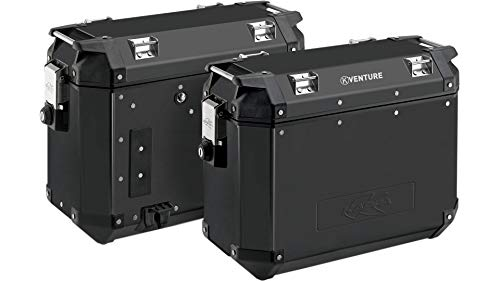 Kappa KVE37BPACK2 K-Venture Paire de valises latérales en Aluminium, Noir